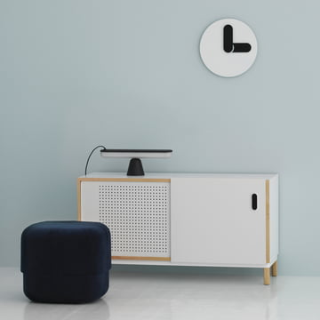 Acrobat table lamp and small Circus pouf by Normann Copenhagen