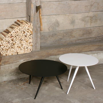 TURN LOW couch table and TURN HIGH side table by Maigrau