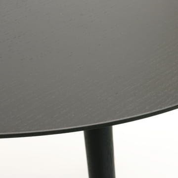 The TURN table by Maigrau in black painted ash