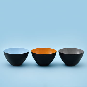 Normann Copenhagen - Krenit bowl, light blue, orange, grey