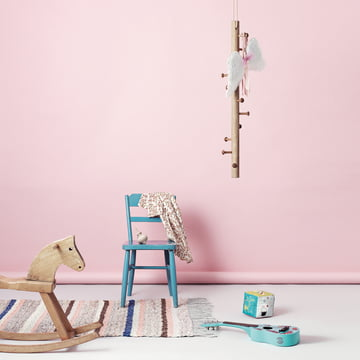hanging coat rack by Copenhanger in the children's room