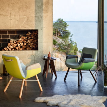 Vitra - Tabouret Solvay Stool & East River Chair