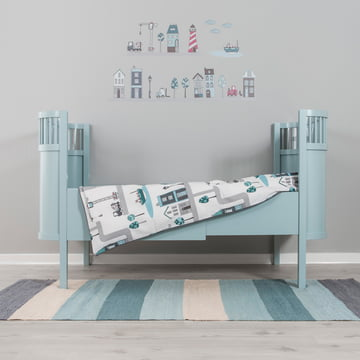 Kili baby and children's bed by Sebra in light blue