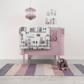Modern children's room in subtle pink
