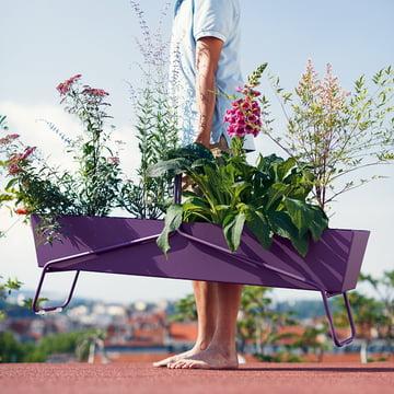 Fermob - Long Planter Basket, aubergine