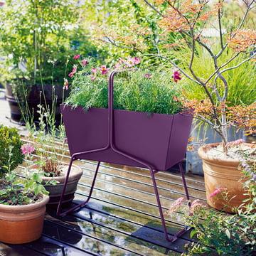 Fermob - basket planter high, aubergine