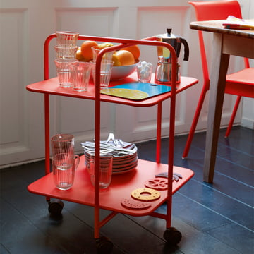 Alfred Side Table on wheels by Fermob