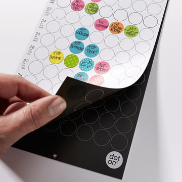Reversible monthly planner by dotty edition