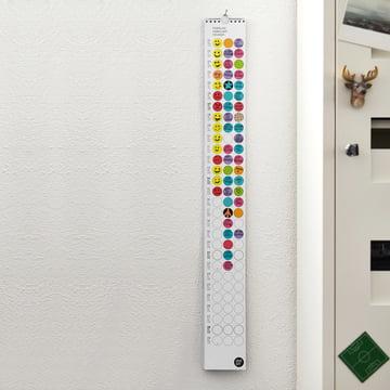 A slender hanging calendar