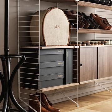 String - Pocket Wall Shelf, black