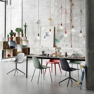 Muuto - Fiber Side Chair Wood variants, E27 pendants