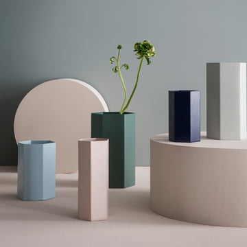 Hexagon Flowerpot and Vase in subtle colours