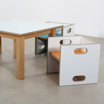 debe.detail Convertible Chair and Table by de Breuyn