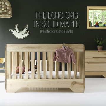 The children's furniture is made of 100% solid FSC certified maple.