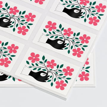 Sticker Hand by Vitra in green and pink