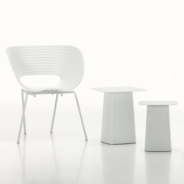 Vitra - White Collection - Metal Side Table / Tom Van Chair, ivory / white