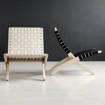 Cuba Chair girth weaving in white and black