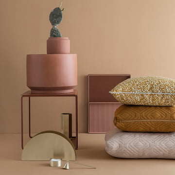 Printed linen cushion by ferm Living