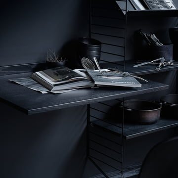 String - Shelving System, black stained