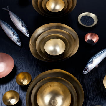 Form Bowl by Tom Dixon made of brass