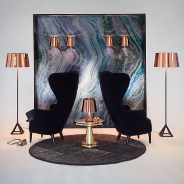 Base Collection by Tom Dixon with Wingback armchair