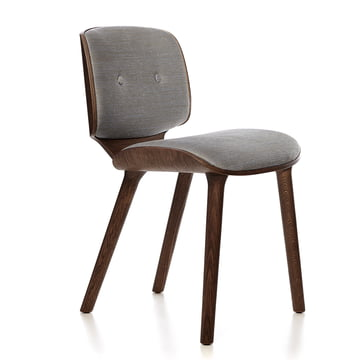 Chair with Round Legs and Solid Oak