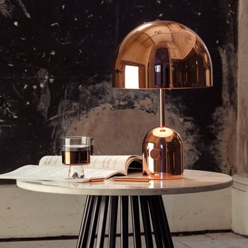 Bell Table Lamp and Tank Low Ball Glass by Tom Dixon