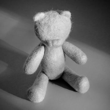 The Teddy from the Menu - Nepal projects in light grey
