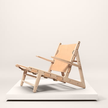 Fredericia - Hunting Chair, Oak soaped / saddle leather natural