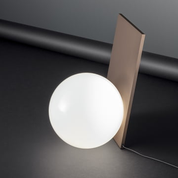 The Extra T Table Lamp in copper anodised by Flos