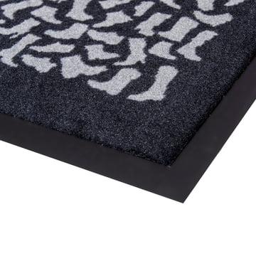 Floor mat runner Shoewear by tica copenhagen in black and grey