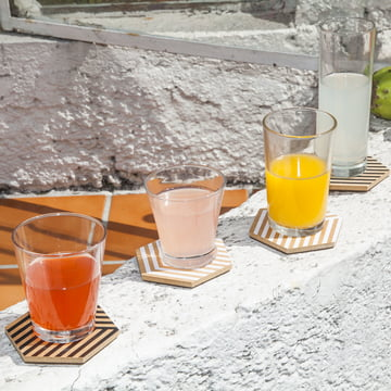 Table Tiles Optic Coasters by Areaware