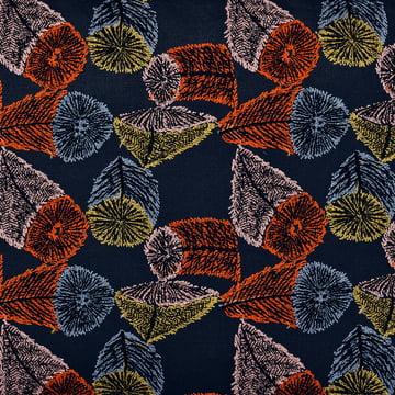 The fabric Hana No Mi dark blue / orange / yellow by Kvadrat