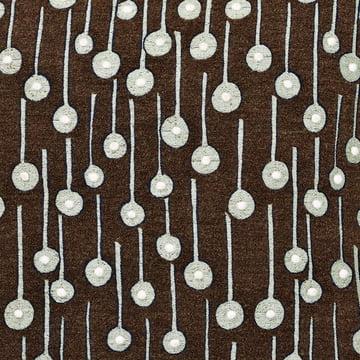 Kvadrat Cushion Pop Rain brown in detail view