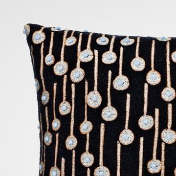 The fabric Pop Rain black / orange / blue by Kvadrat