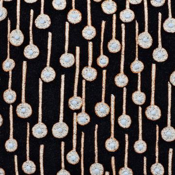 Kvadrat Cushion Pop Rain black with embroidery