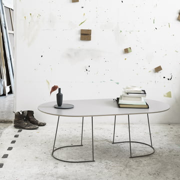 The Airy coffee table, large in grey by Muuto