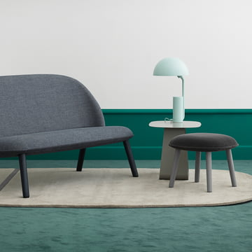 Ace Footstool and Sofa with Cap table lamp
