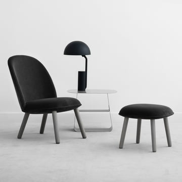 Normann Copenhagen - Ace Lounge Chair / Footstool Velour