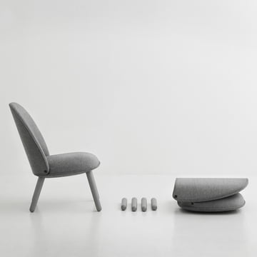 Normann Copenhagen - Ace Lounge Chair Nist, grey