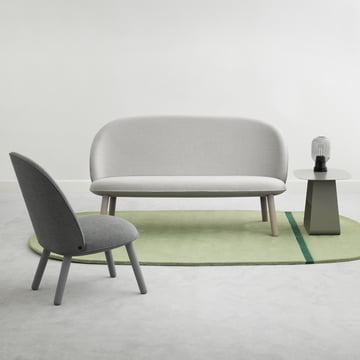 Normann Copenhagen - Ace Sofa Nist, beige - Ace Lounge Chair Nist, grey