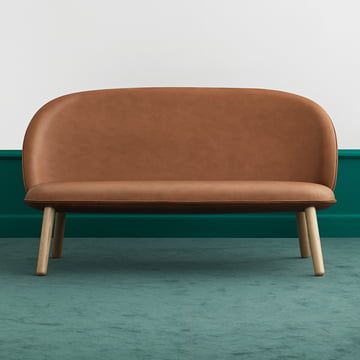 Ace Sofa Tango Leather von Normann Copenhagen in brandy