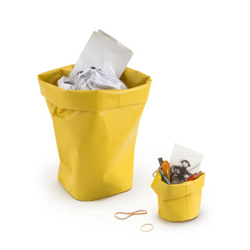 Bin or Pen Holder in Lemon