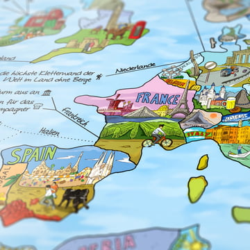 Travelmap/Bucketlist by Awesome Maps
