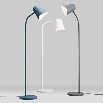 The northernlighting - Me Floor Lamp in teal blue, white, grey
