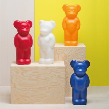 The Lumibär lamps by Authentics in multiple bright colours