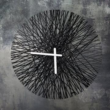 Silk Wall Clock from Koziol in black