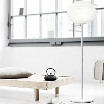 Atomheart floor lamp in the form of dynamic ball