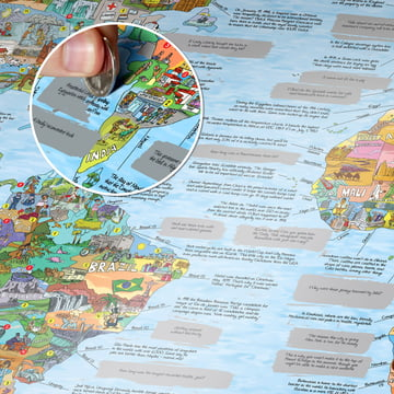 WTFact Map with Silver Foil