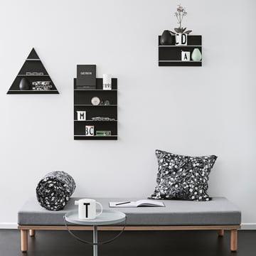 Design Letters - Black Paper Shelf A3 / A2 / Triangle